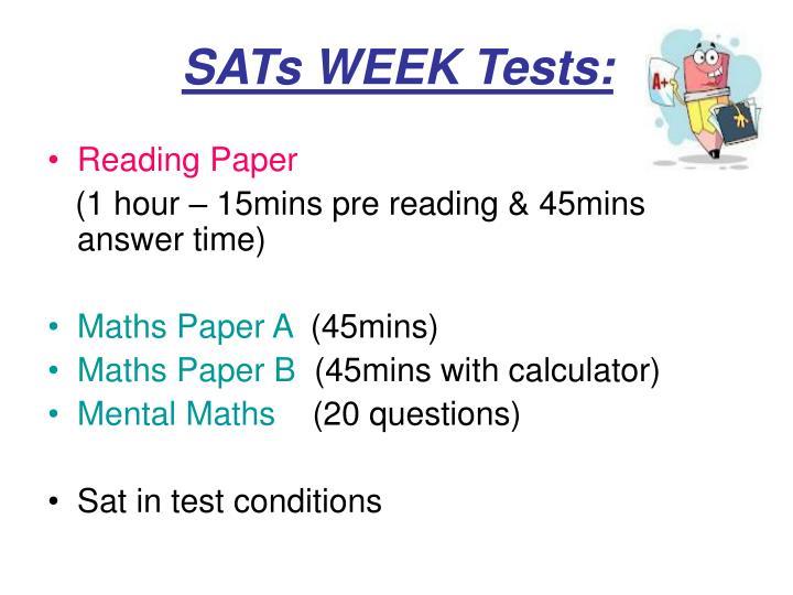 Sats week tests