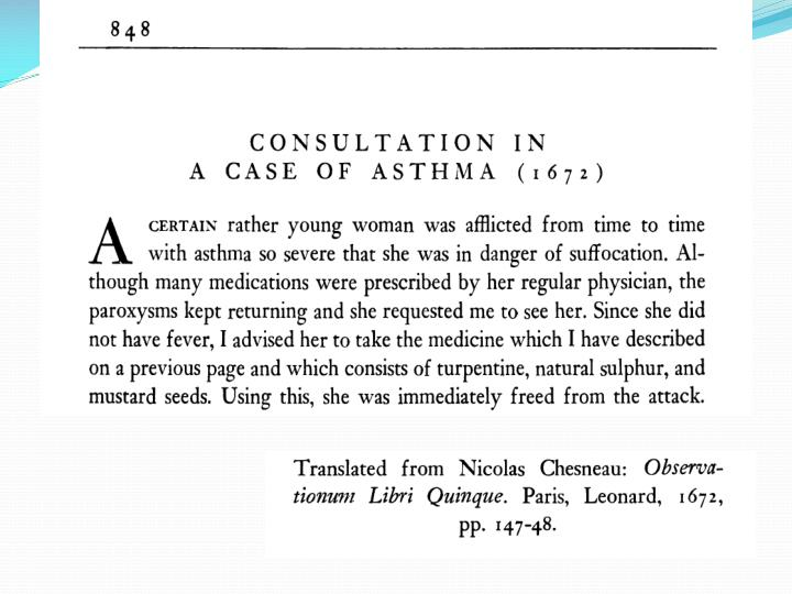 Operation in patients with asthma
