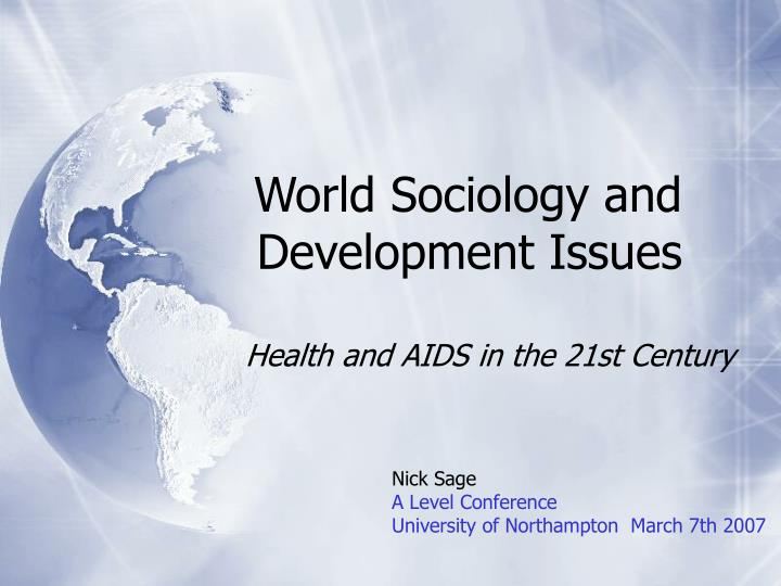 world sociology and development issues n.