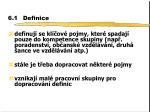 6 1 definice