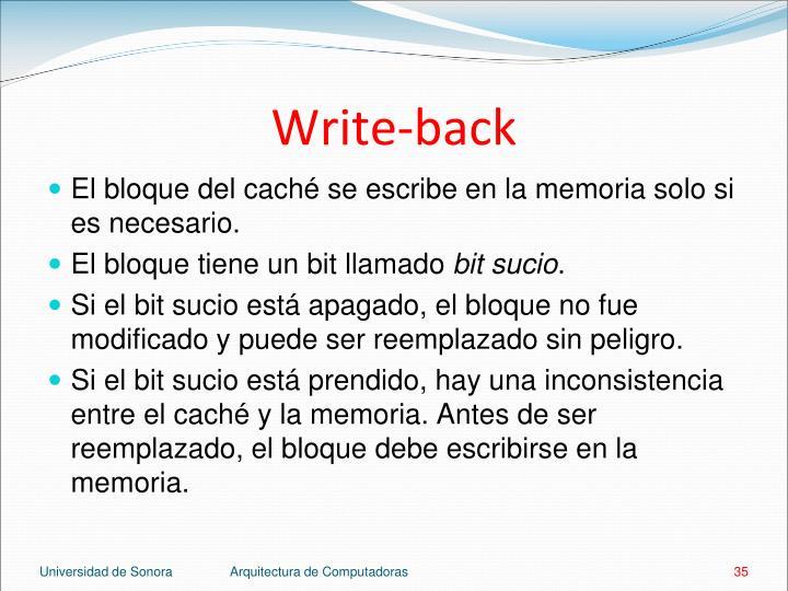 Write-back