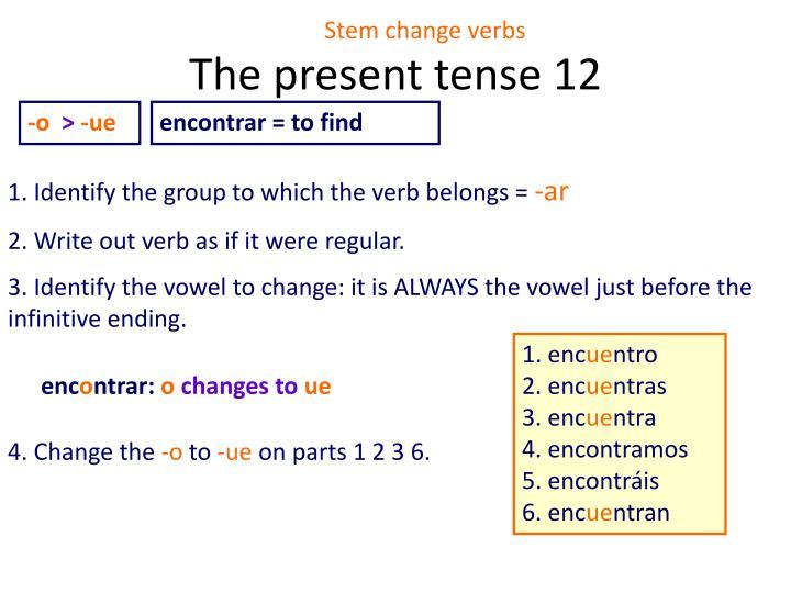 The present tense 12