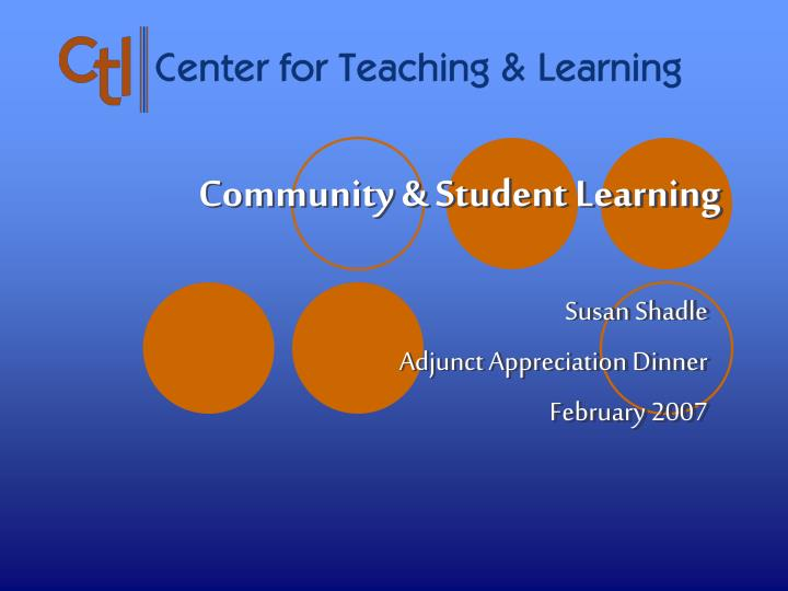community student learning n.