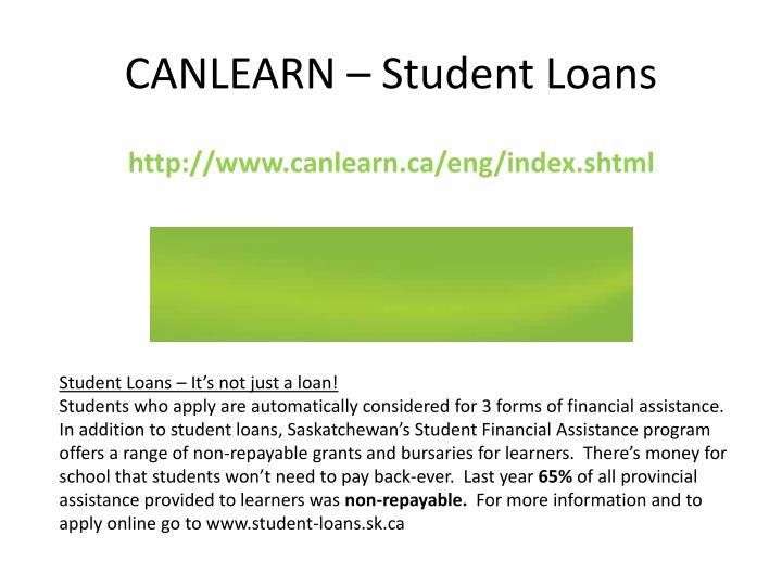 CANLEARN – Student Loans