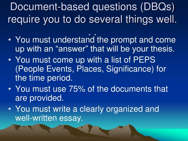document based question thesis