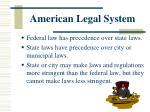 american legal system1