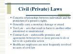 civil private laws