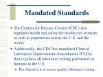 mandated standards1