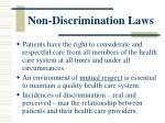 non discrimination laws