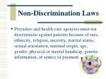 non discrimination laws1