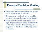 parental decision making1