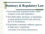 statutory regulatory law
