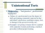 unintentional torts1