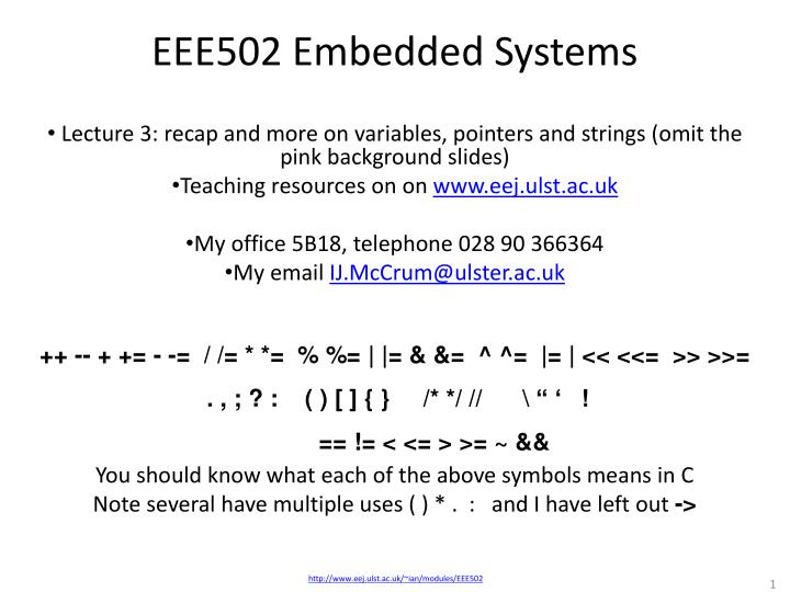 eee502 embedded systems n.