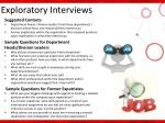 exploratory interviews1