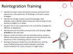 reintegration training