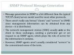 snmp protocol message generation