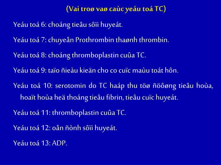 (Vai troø vaø caùc yeáu toá TC)