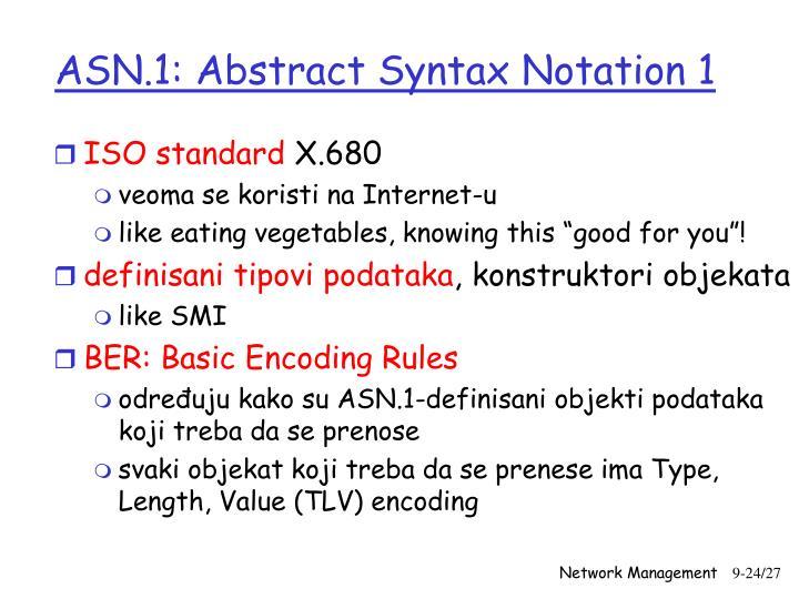 ASN.1: Abstract Syntax Notation 1