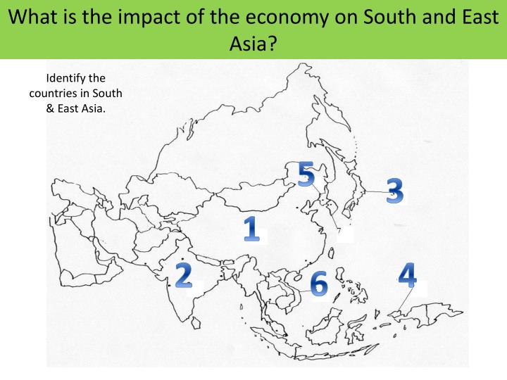 what is the impact of the economy on south and east asia n.
