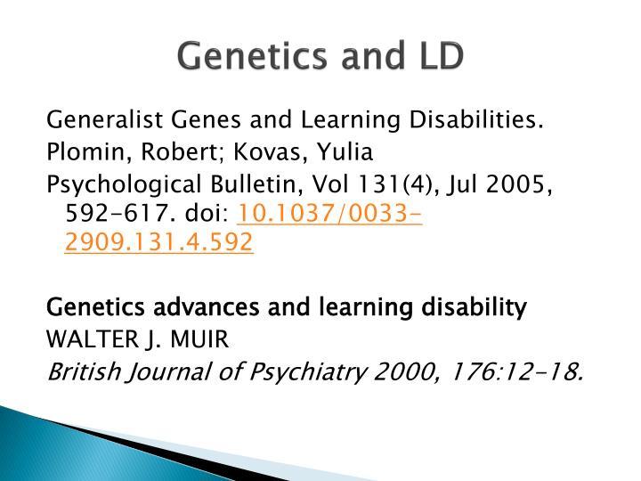 Genetics and LD
