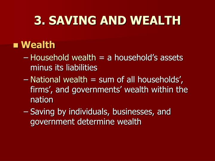 3 saving and wealth