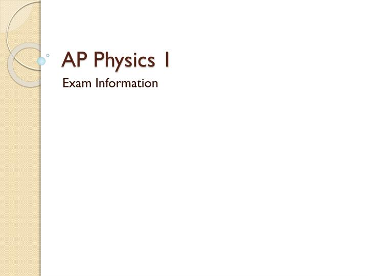 ap physics 1 n.