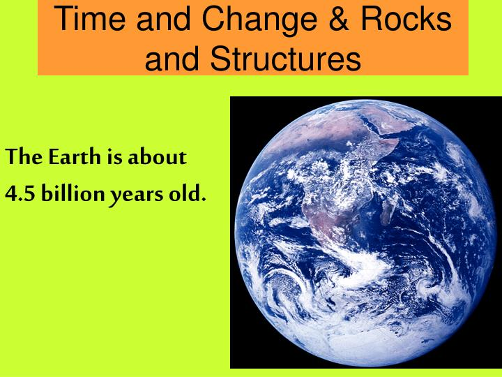 time and change rocks and structures n.