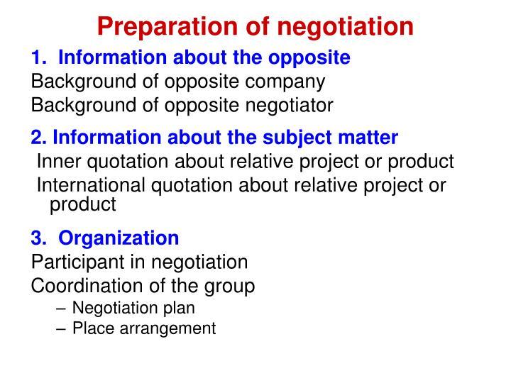 negotiation plan The contract negotiation plan can help organize all of the issues surrounding vendor contract negotiations you will need to document the answers to the following key points for each issue under negotiation.