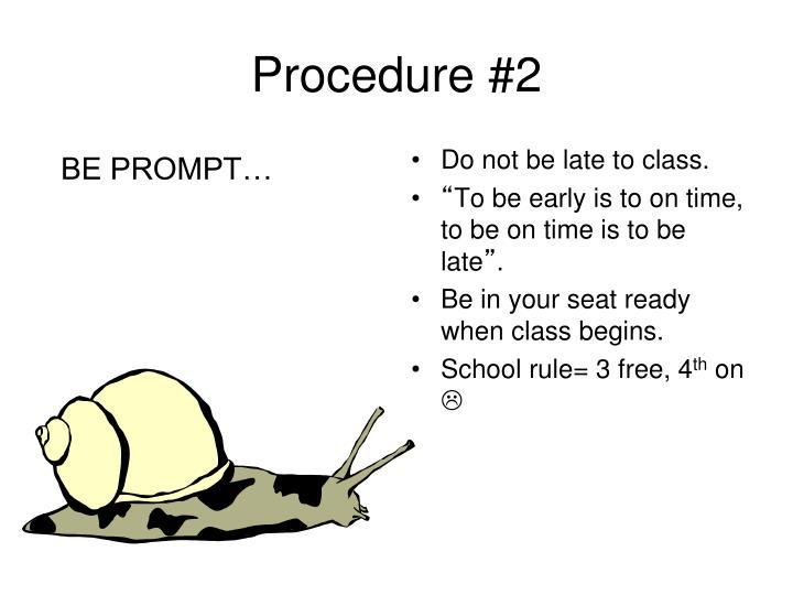 Procedure #2
