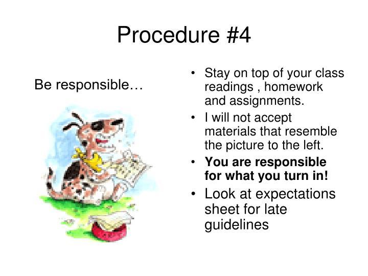 Procedure #4