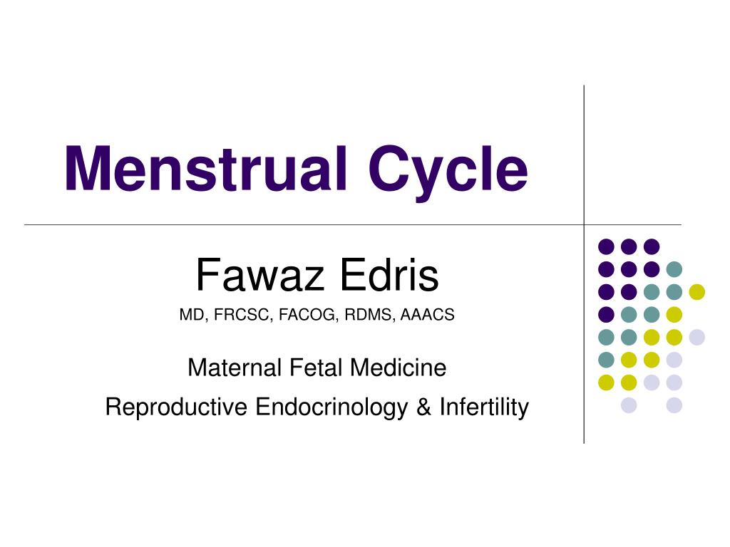 ppt - menstrual cycle powerpoint presentation - id:5797279