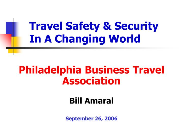 travel safety security in a changing world n.