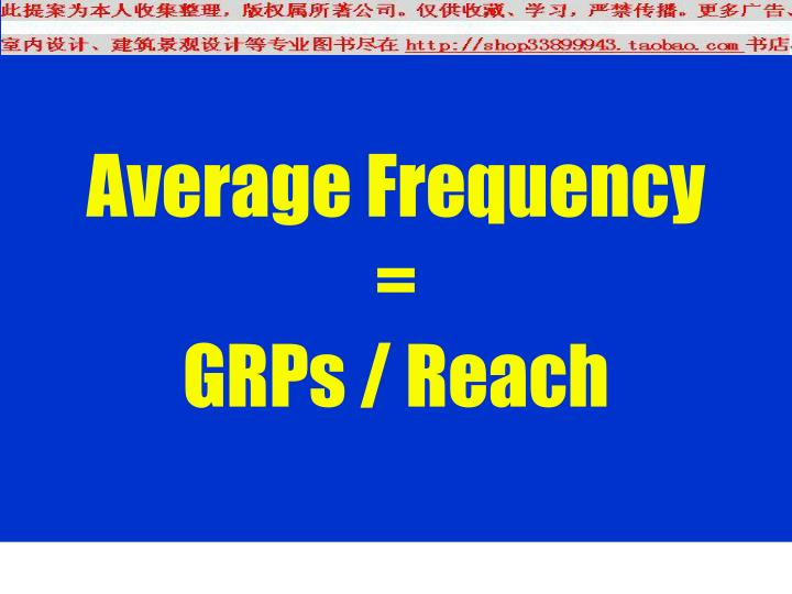 Average Frequency =