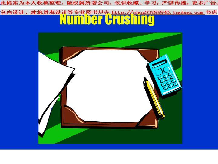 Number Crushing