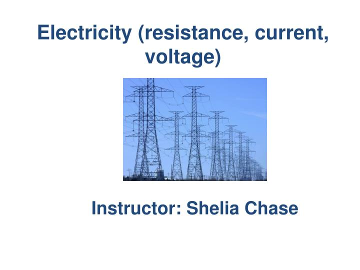 electricity resistance current voltage n.