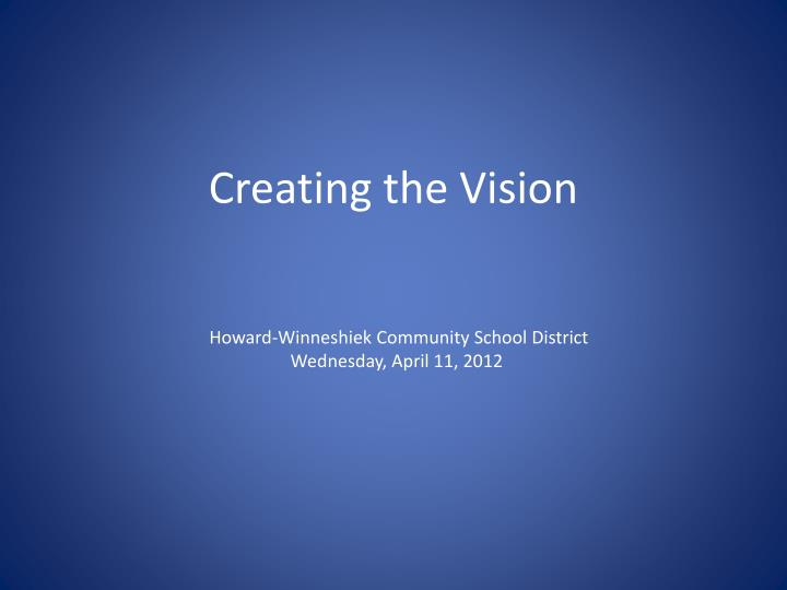 creating the vision n.