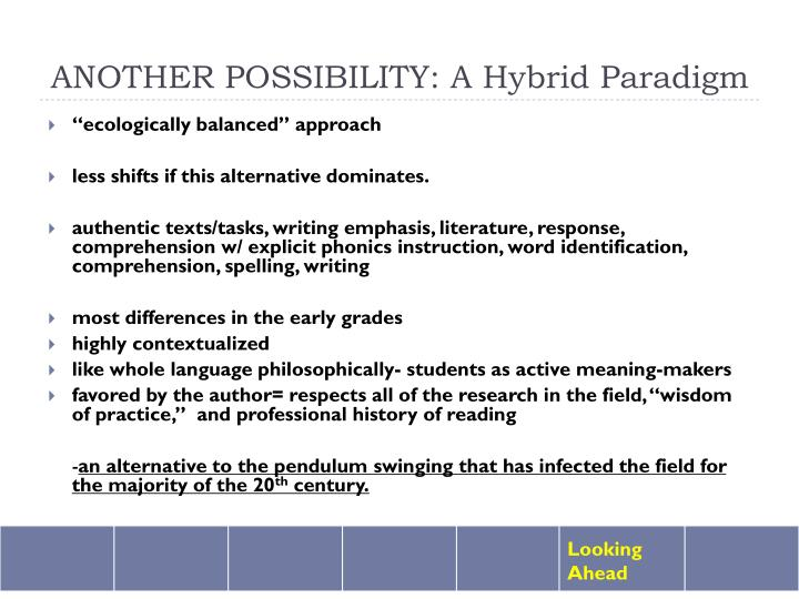 ANOTHER POSSIBILITY: A Hybrid Paradigm