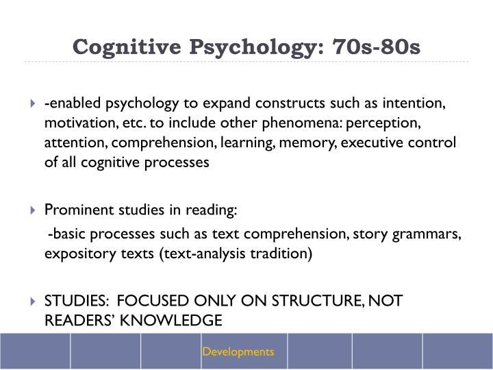 Cognitive Psychology: 70s-80s