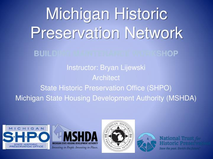 michigan historic preservation network n.