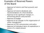 examples of reserved powers of the board1