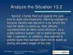 analyze the situation 13 21