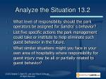analyze the situation 13 23