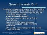 search the web 13 11