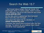 search the web 13 7