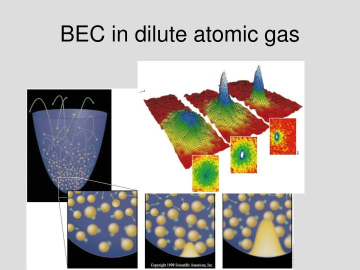 BEC in dilute atomic gas