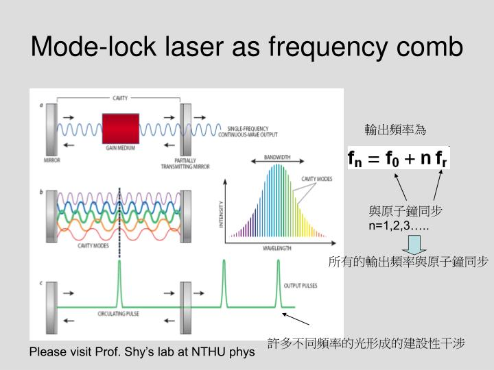 Mode-lock laser as frequency comb