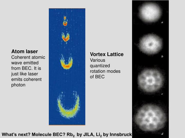 Atom laser