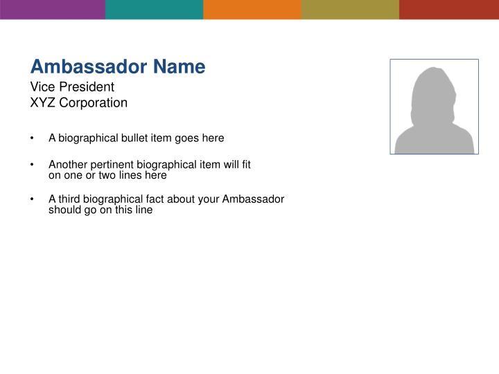 Ambassador Name