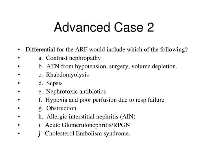 Advanced Case 2